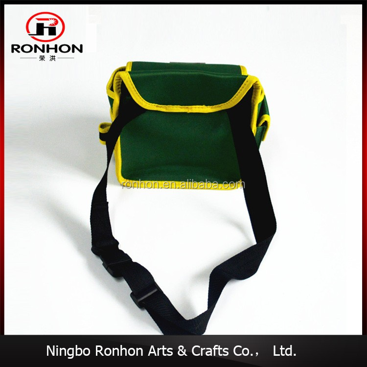 High Quality Durable canvas waist tool bag, electrician tool bag with Quick Adjust Belt