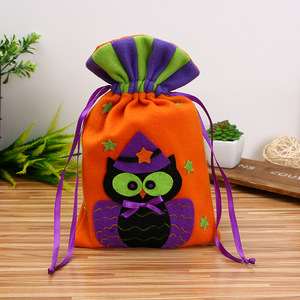 Gift Bag For Halloween Party Decor Candy Bar Decor Halloween Cookie Bag 3 Pcs Non-woven Packaging Halloween Party Packs Pouch