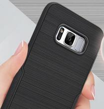 "Phone Case For samsung Carbon Fiber Brushed Wire Drawing Silicone Cover 5.7"" inch"