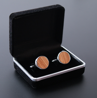 2018 Fashion Cufflinks wood for birthday gift or party Cufflinks men
