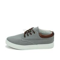 Cheap quality low cut China men wholesale canvas shoes