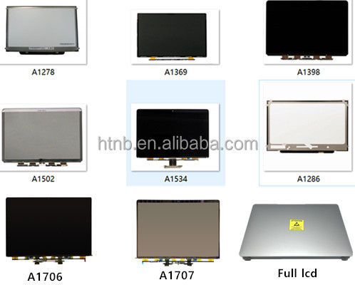 LED-LCD-Panel mit Laptop Shell Cover AB Montage Tophalf für A1465 1466 A1369 A1534 A1502 A1398 A1425 A1707 A1706 A1708