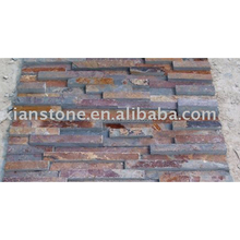 Rusty slate ledger total stone panel