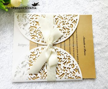 Hk9 Whole Indian Wedding Favors Laser Cut Hollow Invitation Card Marriage Supplies