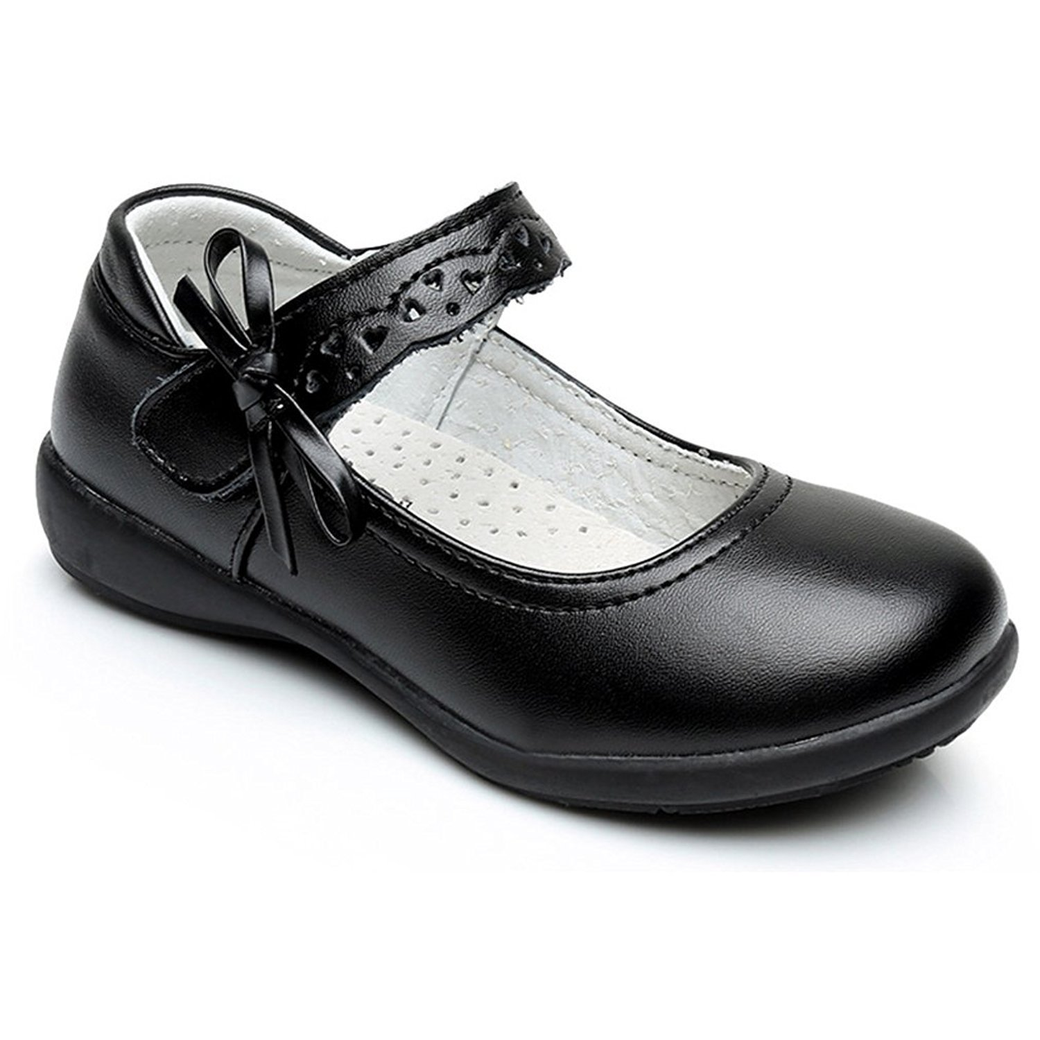 Toddler//Little Kid//Big//Kid 24XOmx55S99 Girls Strap School Uniform Dress Shoe Mary Jane Flat
