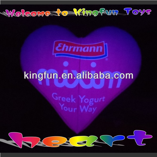 Wedding/party/promotional LED inflatable airtight heart