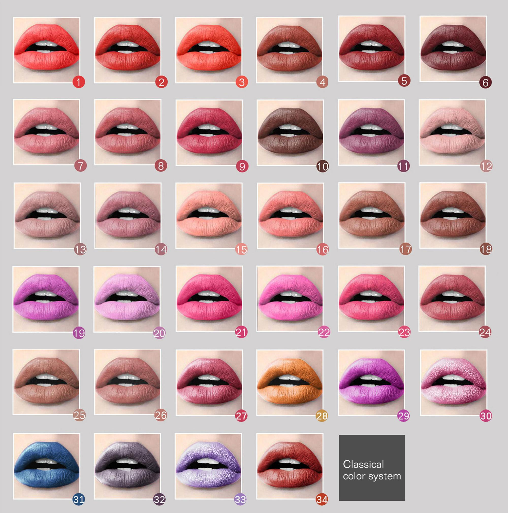 Low MOQ private label lipstick 41 colors 18 hours Long Lasting matte liquid lipstick lip gloss private label