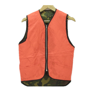 Camo Blaze Orange Fishing Hunting Sportswear Nylon Vest Double Sided