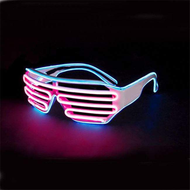 Apparel Accessories The Cheapest Price Wholesale El Wire Flashing Light Up Shutter Glasses Shades Eyewear Party Concert Favor Jade White