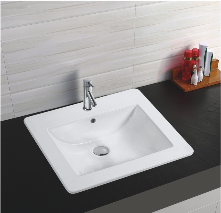 YJ802 Thin edge Semi cabinet ceramic italian wash basin