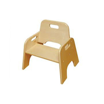 Factory Wholesale Low Price Children Wooden Easy Moving Baby Chair