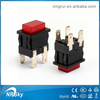 UL approved 4 pin 15a 125v latched illuminated push button switch