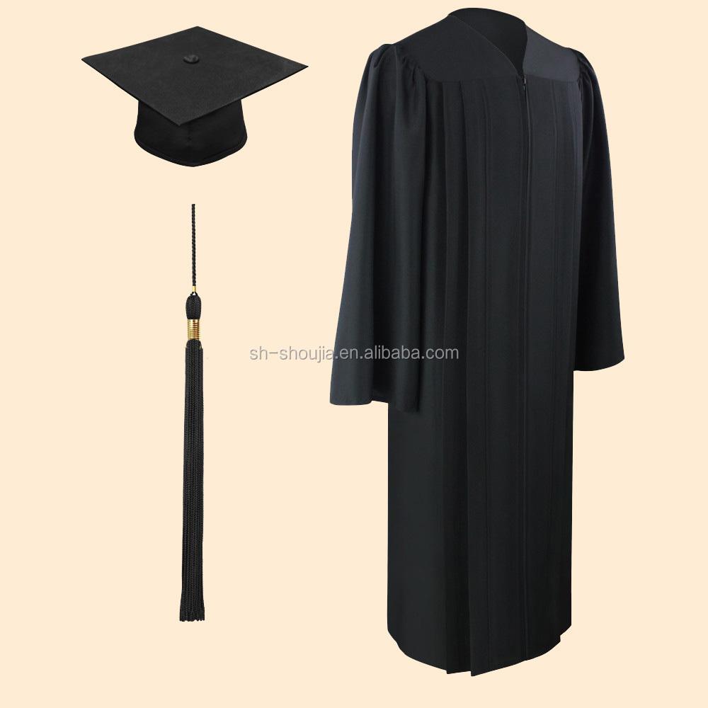 Matte Black Bachelor Graduation Cap And Gowngraduation Cap And Gown