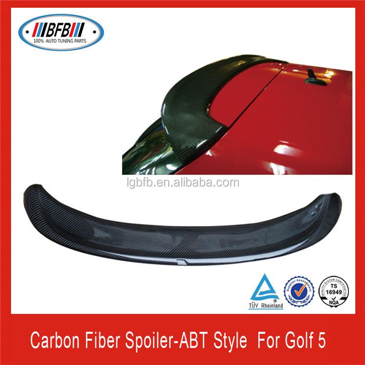 For Volkswagon VW Jetta 2012-2014 Rear Window Roof  Spoiler Wing Carbon Fiber