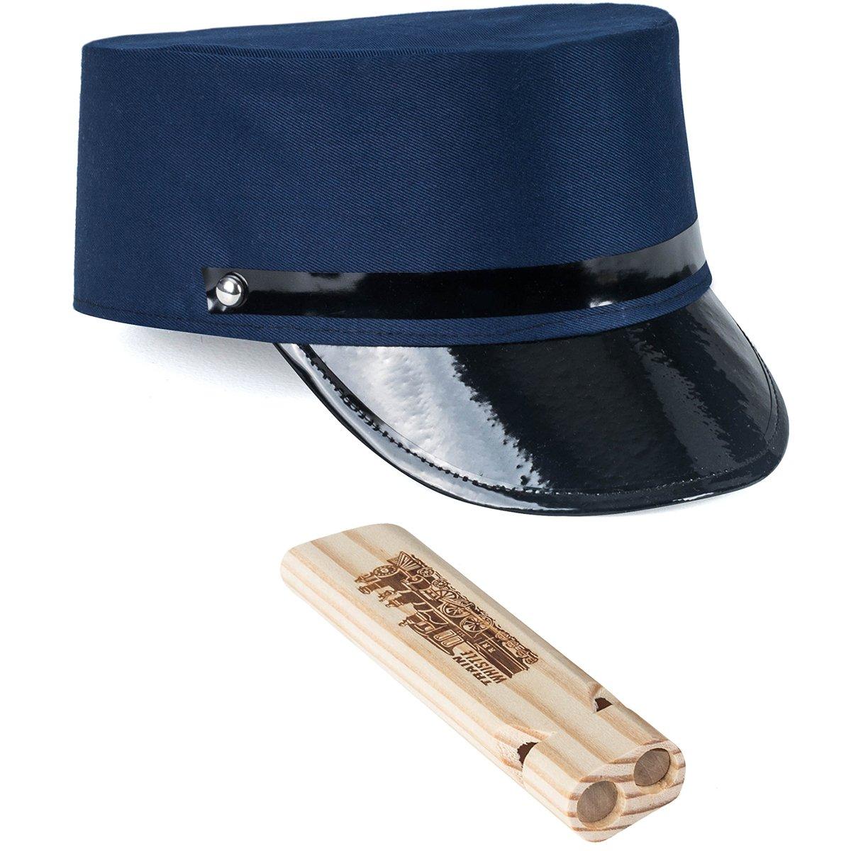 de119dee1bc Get Quotations · Tigerdoe Conductor Costume - Conductor Hat - Train Engineer  Costume - (2 Pc Set)