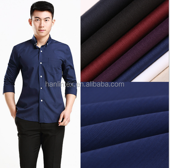 dyed two-way stretch polyester cotton spandex tc poplin fabric
