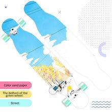 118 см длинная доска скейтборд девушки профессиональная щетка улица дорога четырехколесный скейтборд танцевальная доска Скутер(Китай)