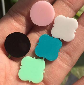 Blank Monogram Jewelry Mint Acrylic Turquoise Stud Earrings