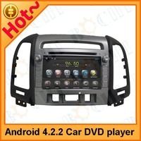 2 din pure Android 4.2 car DVD player for Hyundai Santafe, built in car DVD+GPS+Wifi+Bluetooth+3G