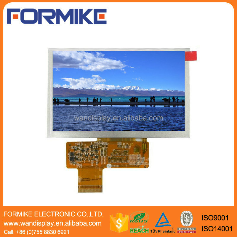 Formike hot 5 inch 800x480 lcd monitor with RGB 24bits