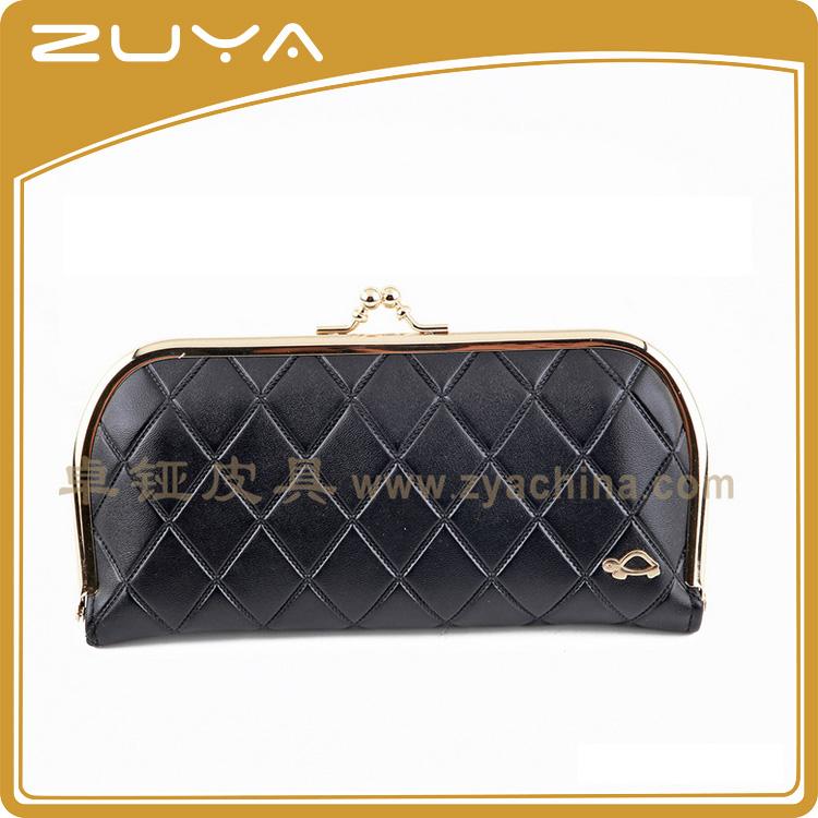 Evening Clutch Bag And Metal Frame Wallet