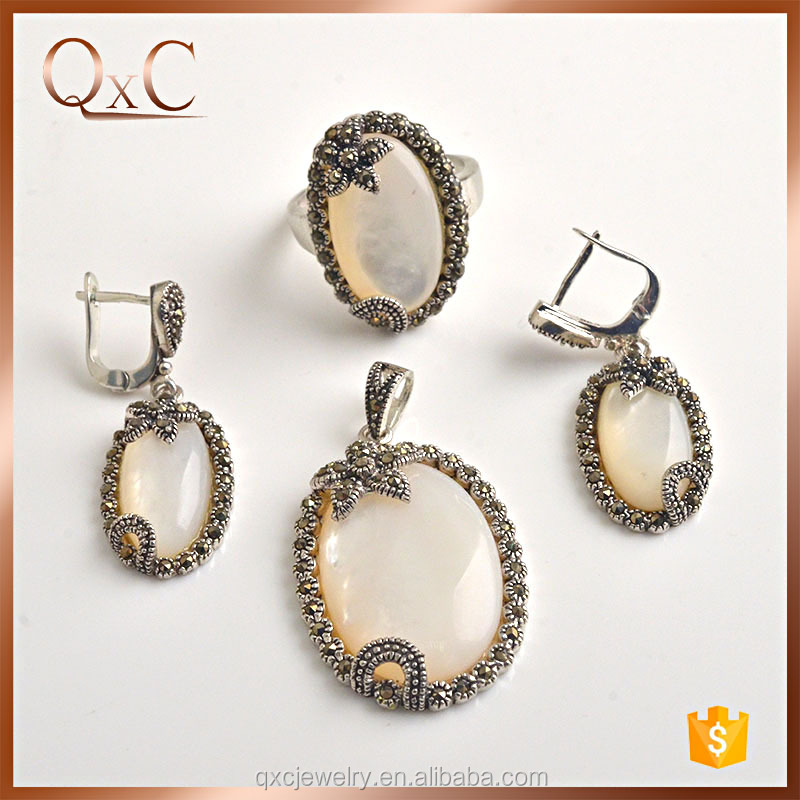 New exclusive design thai silver jewelry sets asian jewelry