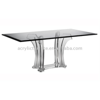 Acrylic/Perspex Popular Square shaped Dining Table