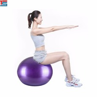 Balance home DVD exercise for Yoga Crossfit Pilates Core-Blue fitness ball