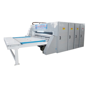 High efficient carton packing line corrugated flexo printer