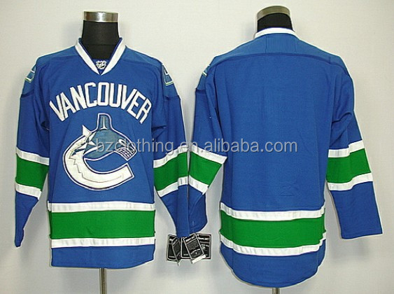 Vancouver Canucks Blank Ice Hockey Jersey
