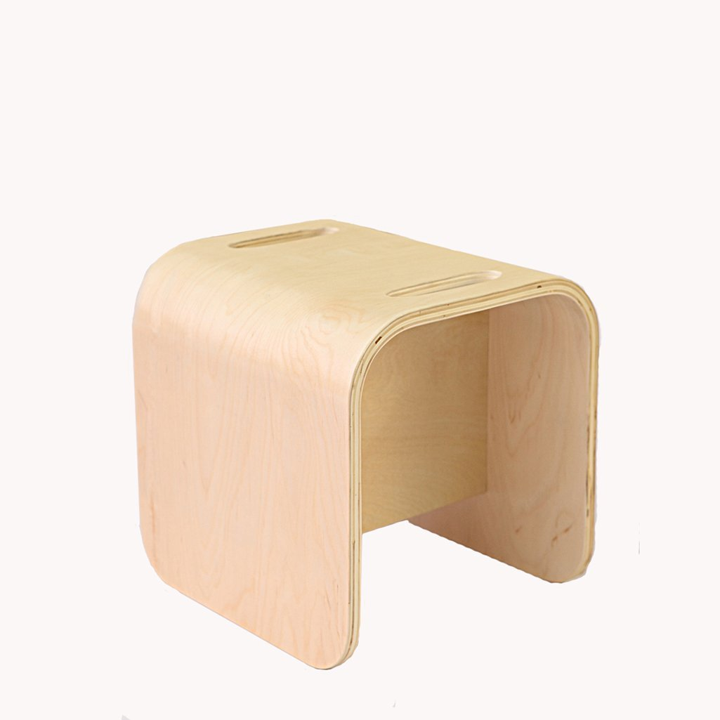 AIDELAI Stool chair Solid Wood Children's Chairs Stool Bent Wood Stool Environmental Learning Chair Kindergarten Stool Chair Creative Square Stool Saddle Seat