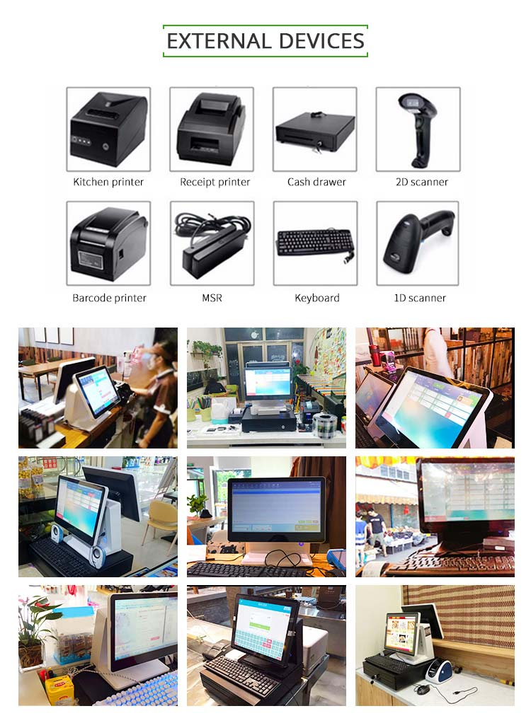 Ready To Ship 15.6 Inch All In One Supermarket Cashier Machine Retail Touch Screen Pos System For Restaurant