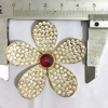 New Arrival Floral Design 5*5CM Alloy Rhinestone Buckle For Lady Jewlery, Shoes, Apparel