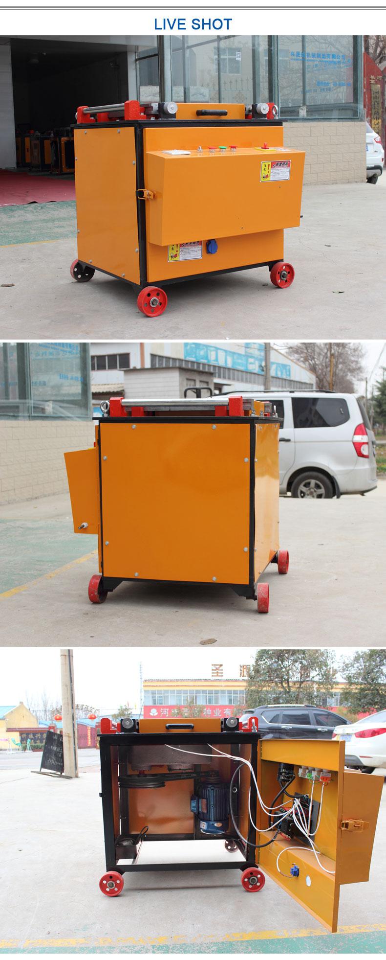 GW42 automática del cnc bar máquina dobladora de bar de flexión de acero máquina dobladora de tubo redondo de barra de acero de la máquina de flexión de bender