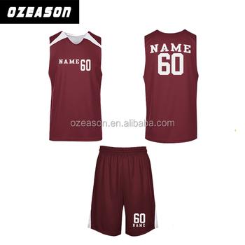 5b60c725048 2016 plain OEM red color design basketball jersey uniform design for men's