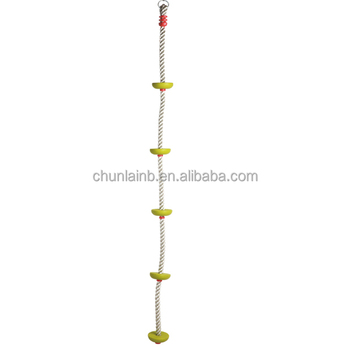 Swing Set Children Pe Climbing Rope With Plastic Knots Disk