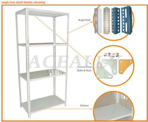 Good quality steel slotted angle shelving