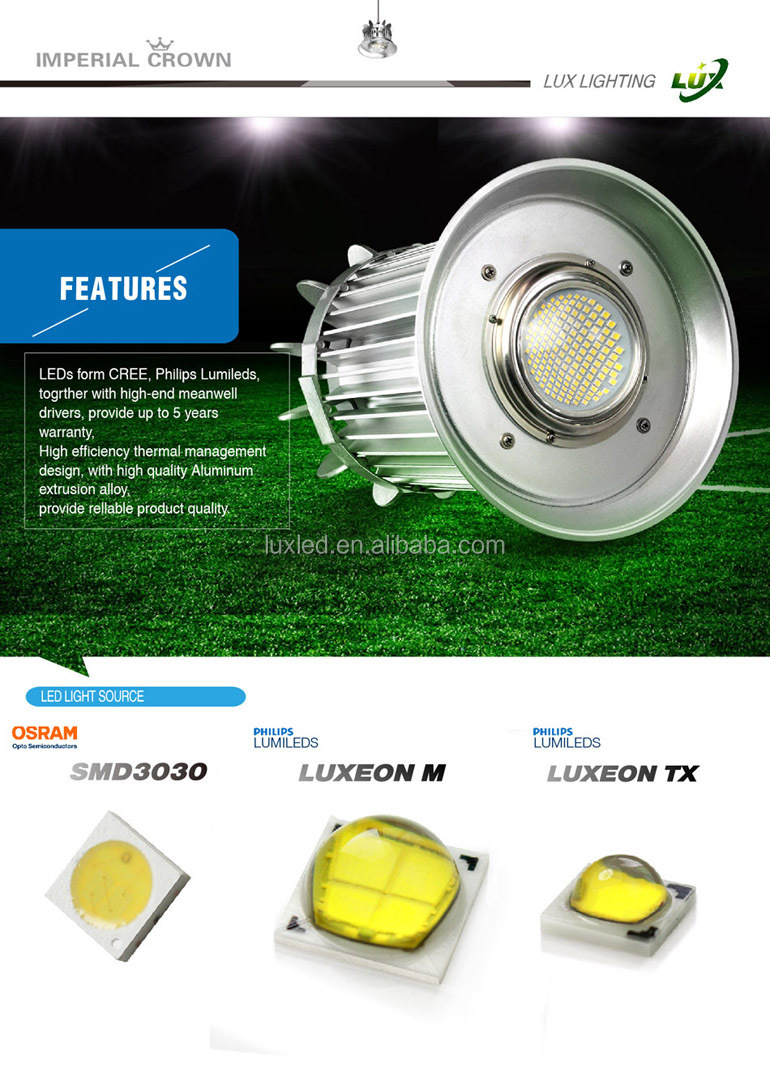 Factory price high quality 100w led high bay lights,100w stadium lamp,100 watt lighting high bay lights