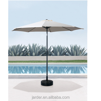 outdoor garden beach sun hotel factory dia.2.7m steel garden straight parasol