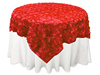 Hot sale rosette wedding embroidered table overlays