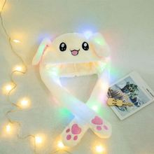 Trend Animal Party Moving Gift Novelty Pluche Scrolling Oor Hoed Led <span class=keywords><strong>Bunny</strong></span> Konijn Hoed