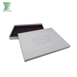 Custom logo white clothing scarf paper package box