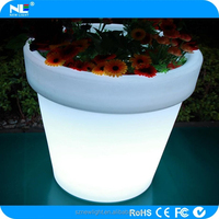 led flower pot / led pot light / led flower pot light . 16 color changing , waterproof shell , eco-friendly ,charging battery .