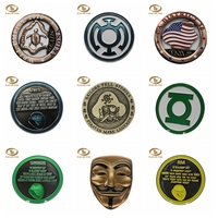 Fashion cheap custom ancient old 3d metal replica gold challenge coins