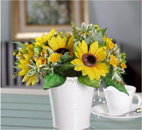 Wholesale party decoration supplies wedding decorations silk flowers artificial decorative sunflower