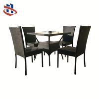 Good Quality Classic style Rattan Dining Table And Chair Set,Coffee Table