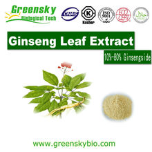Factory 100% Natural Organic Ginseng Panax Root/Leaf Extract Powder 15%-80%ginsenoside