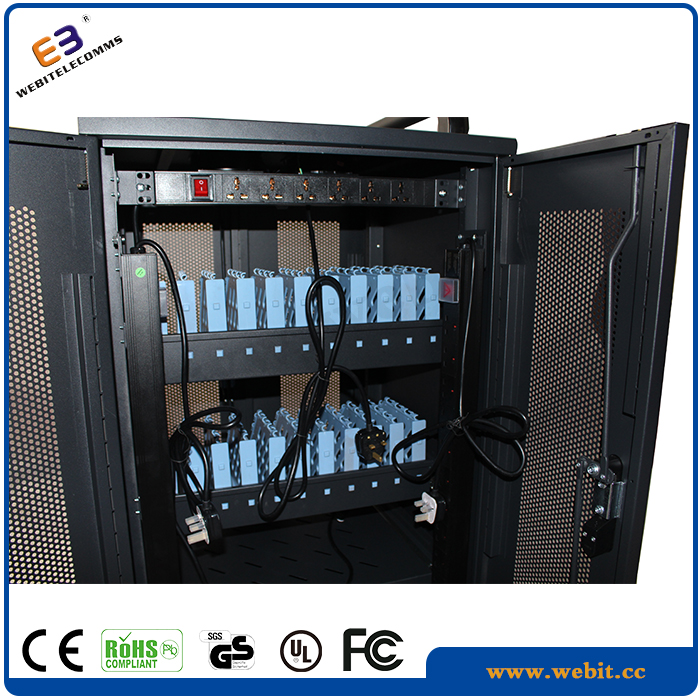 Laptop Rack,Metal Material,ABS 20 Slots Removable Laptop Charging Cabinet