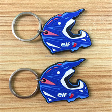 Promotional gifts PVC motorcycle bicycle safety helmet keychain