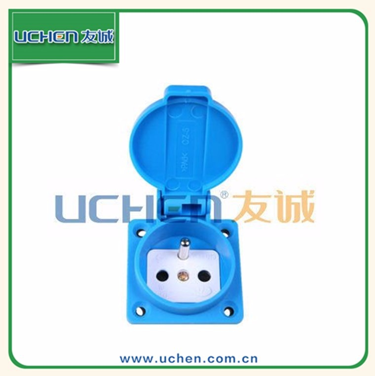 16A 250V French Waterproof industrial receptacle multi function socket